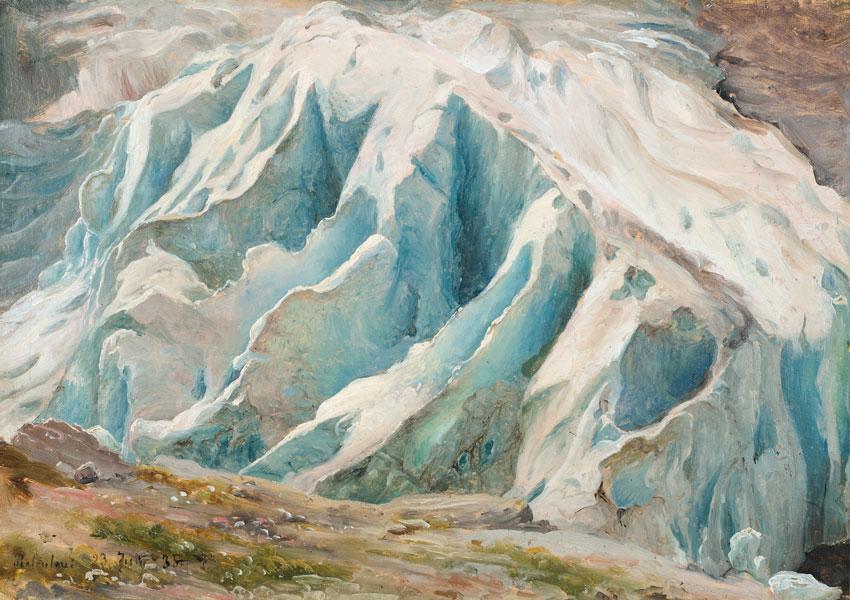Thomas Fearnley - Studie des Grindelwaldgletschers, 1835