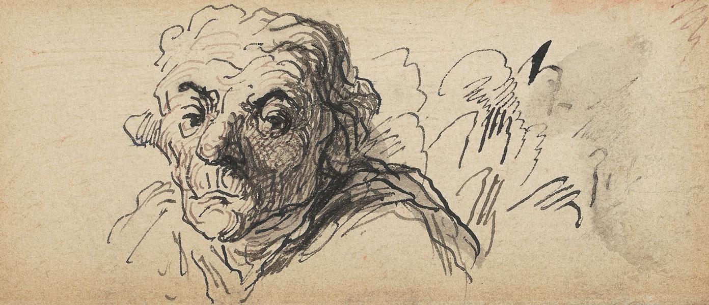 Honoré Daumier - Tête d'homme, undatiert
