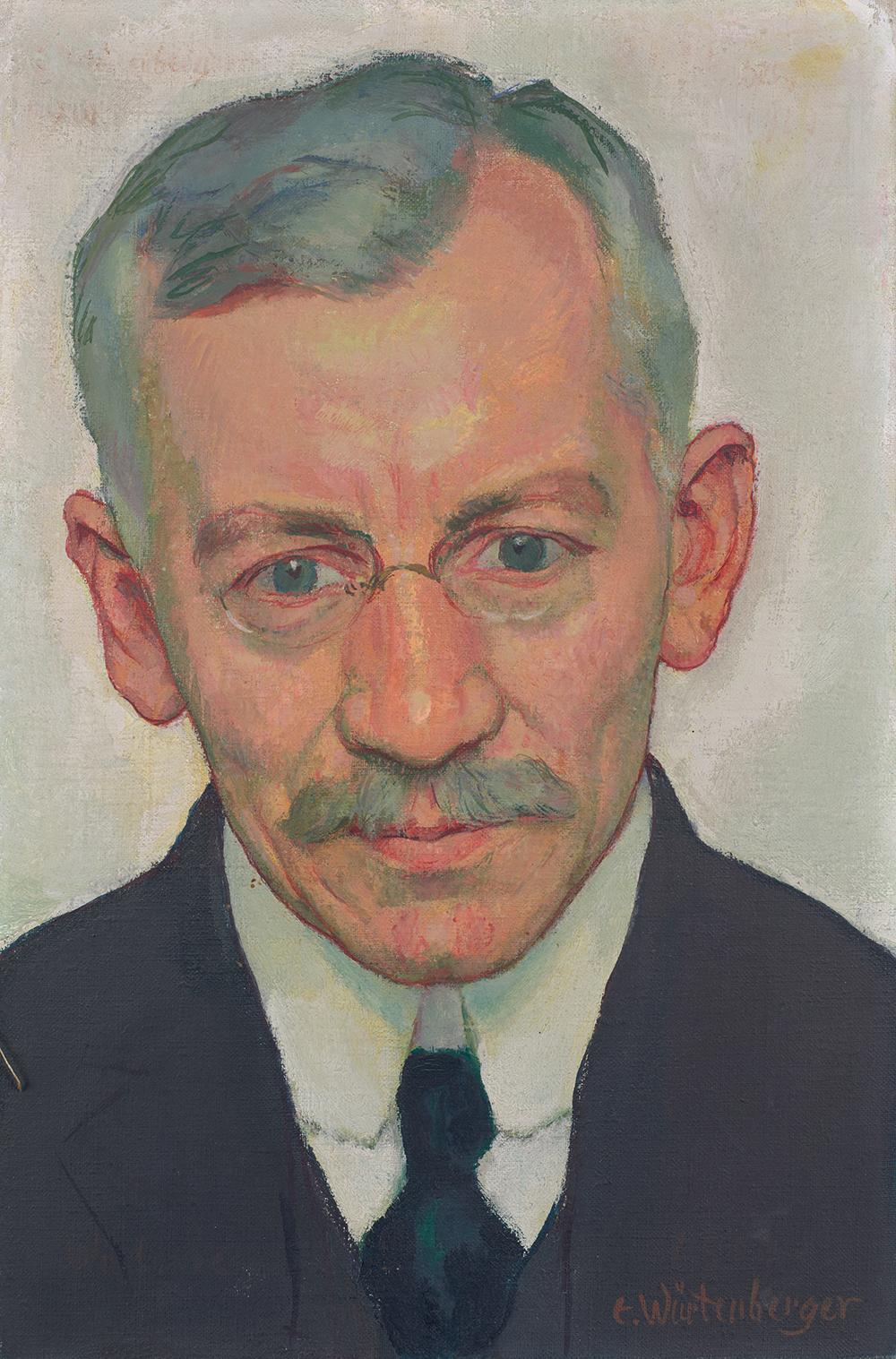 Ernst Würtenberger - Porträt Dr. med Gustav Adolf Steiger, um 1915