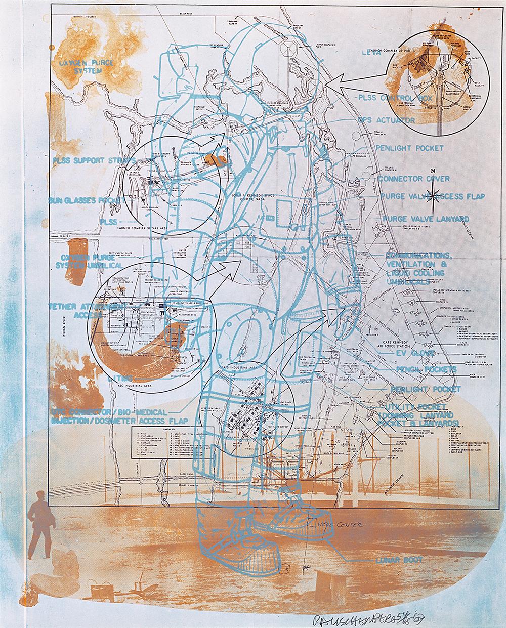 Robert Rauschenberg - Stoned Moon Series, 1969/1970