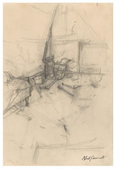 Alberto Giacometti - Le poêle dans l'atelier, 1945–1947, 1945–1947