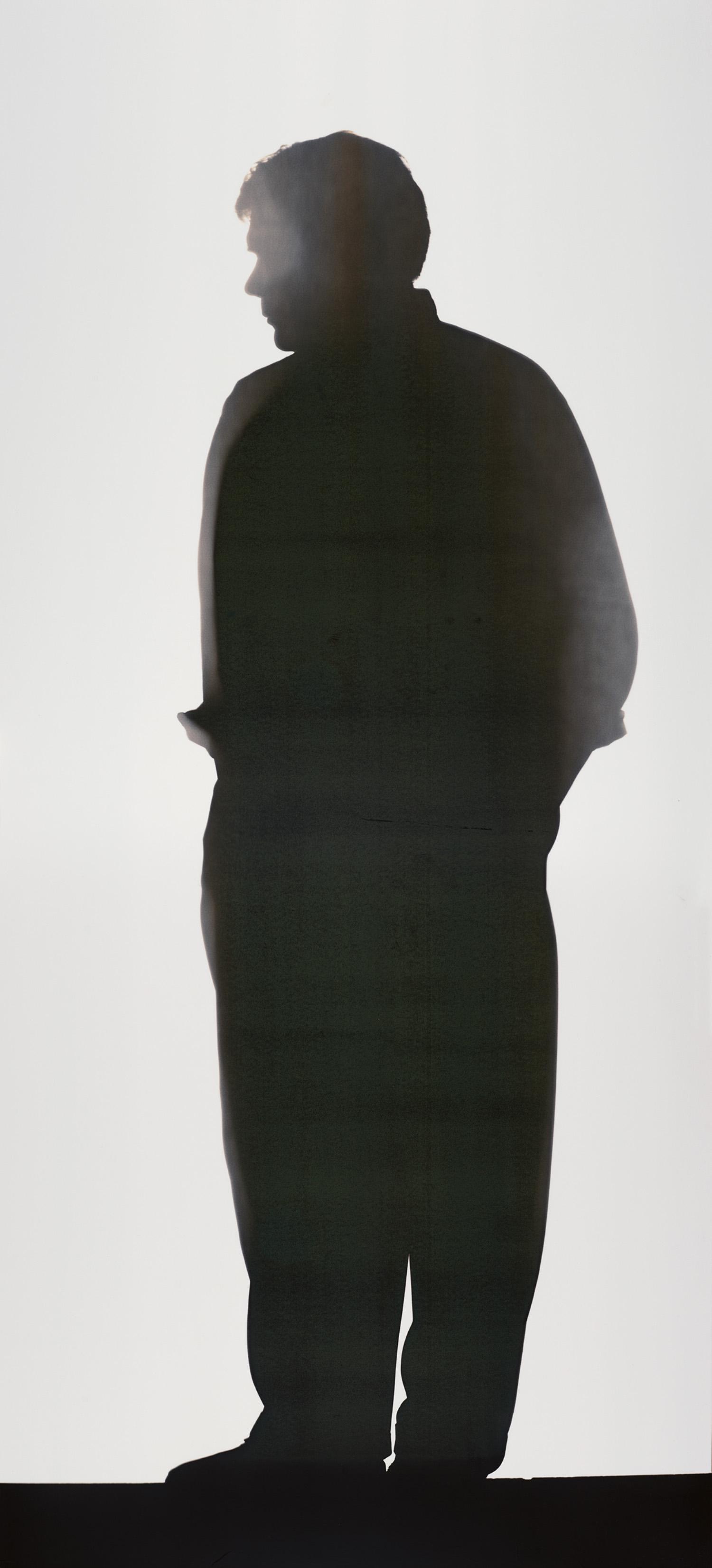 Neusüss, Portrait. Blatt der Werkgruppe «Portraitsilhouette», 1994