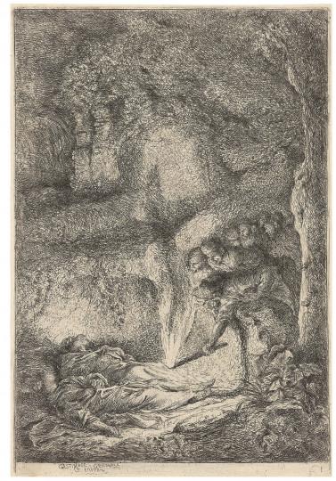 Giovanni Benedetto Castiglione, genannt Il Grechetto - Auffindung der Leichname der Heiligen Petrus und Paulus, um 1647–1651, um 1647–1651