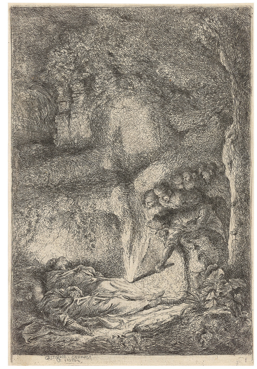 Auffindung der Leichname der Heiligen Petrus und Paulus, um 1647–1651