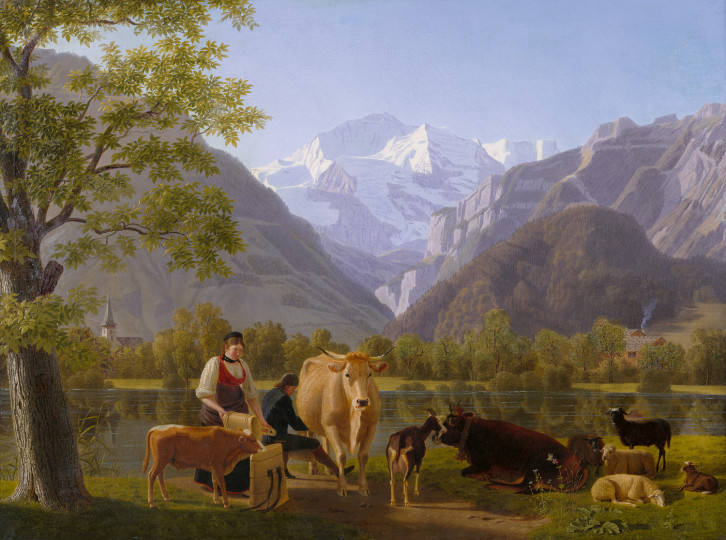 Johann Jakob Biedermann - Blick ins Lauterbrunnental mit Jungfrau, 1818, 1818