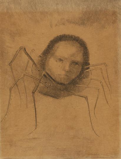 Odilon Redon - L'araignée qui pleure, um 1880, um 1880