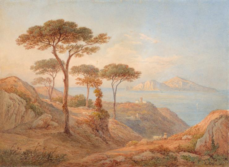 Rudolf Müller - Blick über den Golf von Sorrent auf die Insel Capri, undatiert, undatiert