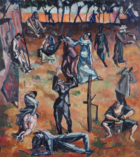 Unbekannt - Figurenszene, um 1915, um 1915